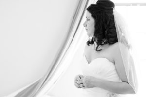 Bride waiting for her moment in Wilmington DE