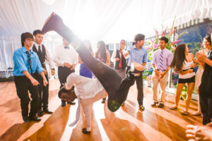 Dancing at the reception at Brandywine Manor House