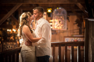 Bride and Groom in Rising Sun at Spring Hill Manor