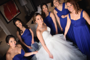 Bridal Party getting ready in Arlington VA