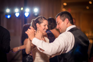 Bride and groom dancing in Wayne PA at The Radnor